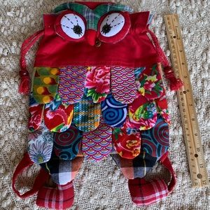Owl fabric backpack